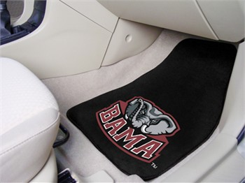Alabama Crimson Tide 2 Piece Carpet Car Mats