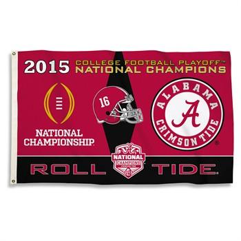Alabama Crimson Tide 2015 Champs 3' x 5' Flag