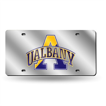 Albany Great Danes Silver Laser License Plate