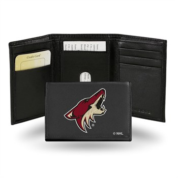 Arizona Coyotes NHL Embroidered Leather Tri-Fold Wallet