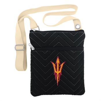 Arizona State Sun Devils Chevron Stitch Crossbody Bag