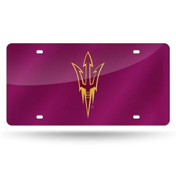 Arizona State Sun Devils Dark Red Laser Cut License Plate