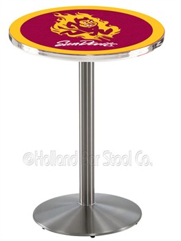 Arizona State Sun Devils Stainless Steel Bar Table With