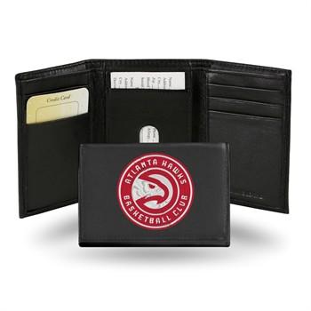 Atlanta Hawks Embroidered Leather Tri-Fold Wallet