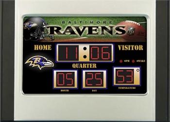 Baltimore Ravens Nfl Scoreboard Desk Clock