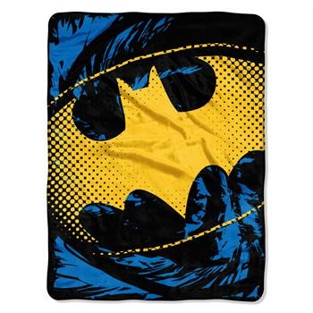 Batman Ripped Shield Micro Raschel Throw Blanket