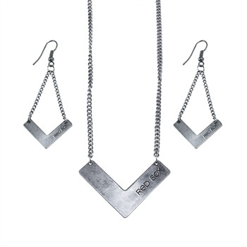 Boston Red Sox Chevron Jewelry Set