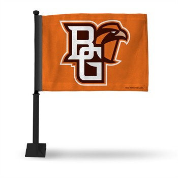 Bowling Green State Falcons Car Flag with Black Pole