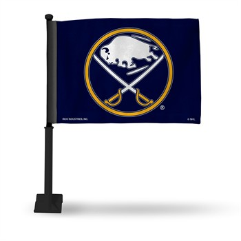 Buffalo Sabres Car Flag with Black Pole