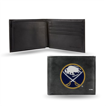 Buffalo Sabres Embroidered Leather Billfold Wallet