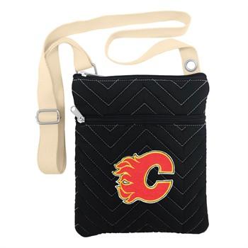 Calgary Flames Chevron Stitch Crossbody Bag