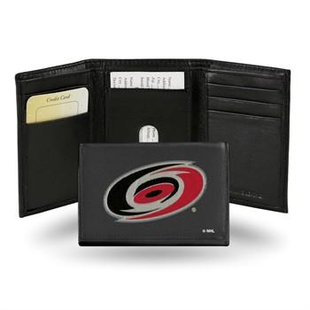 Carolina Hurricanes NHL Embroidered Leather Tri-Fold Wallet