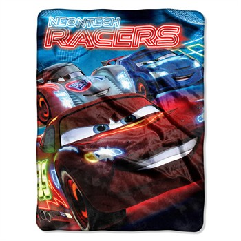 Cars 2 Neon Tech Micro Raschel Throw Blanket