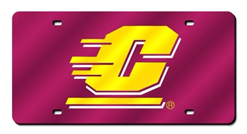 Central Michigan Chippewas Laser Cut License Plate