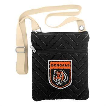 Cincinnati Bengals Crest Chevron Crossbody Bag