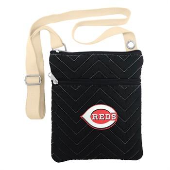 Cincinnati Reds Chevron Stitch Crossbody Bag