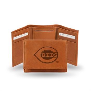 Cincinnati Reds MLB Embossed Tri-Fold Wallet