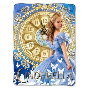 Cinderella Movie Micro Raschel Throw Blanket
