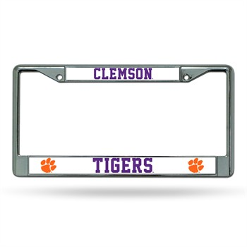 Clemson Tigers College Chrome License Plate Frame