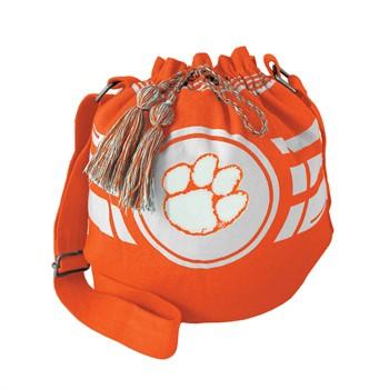 Clemson Tigers Ripple Drawstring Bucket Bag