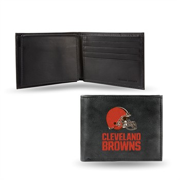 Cleveland Browns Embroidered Leather Billfold Wallet