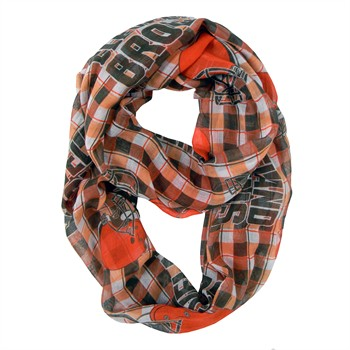Cleveland Browns NFL Plaid Sheer Infinity Scarf