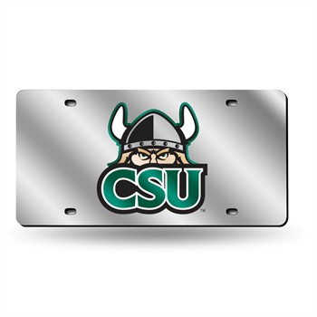 Cleveland State Vikings Silver Laser License Plate