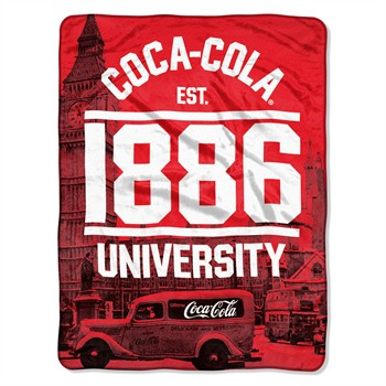 Coca Cola London Micro Raschel Throw Blanket
