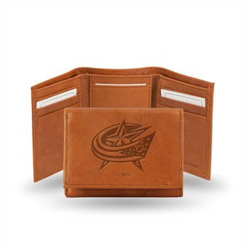 Columbus Blue Jackets Embossed Tri-Fold Wallet