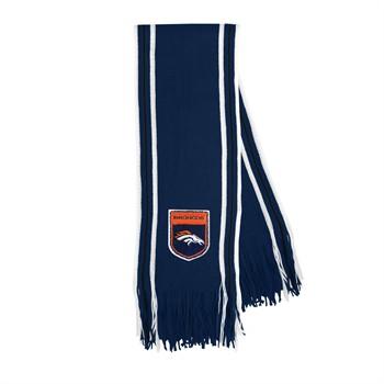Denver Broncos Crest Stripe Fringe Scarf