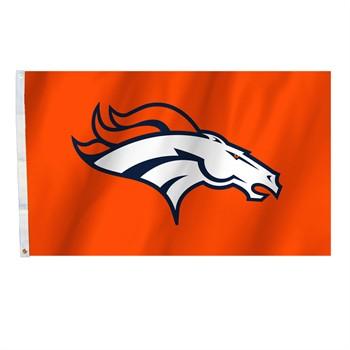 Denver Broncos Orange 3' x 5' Flag