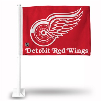 Detroit Red Wings Red Car Flag