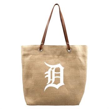 Detroit Tigers MLB Burlap Market Tote