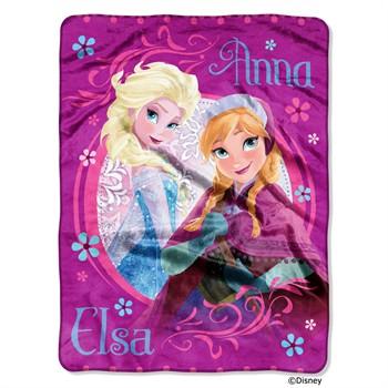 Disney Frozen Loving Sisters Micro Raschel Throw Blanket