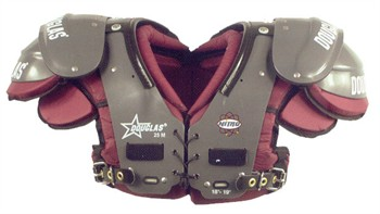 Douglas Nitro NP 25 Series Adult Football Shoulder Pads - Running Back / Defensive Back / Quarterback