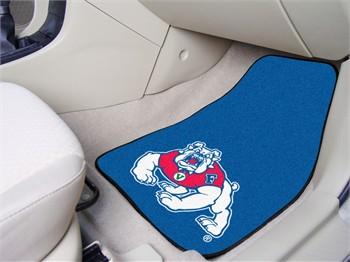 fresno state bulldogs 2 piece carpet car mats. Black Bedroom Furniture Sets. Home Design Ideas