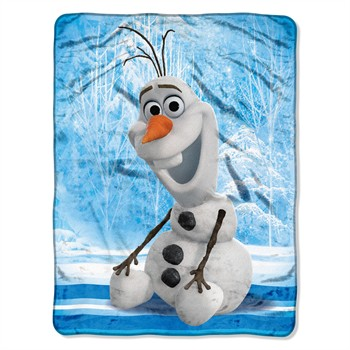 Frozen Chills & Thrills Micro Raschel Throw Blanket