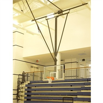 Gared Forward Fold / Front Braced Ceiling Suspended Basketball Backstop