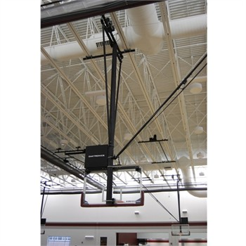 Gared Side Fold / Side Braced Ceiling Suspended Basketball Backstop