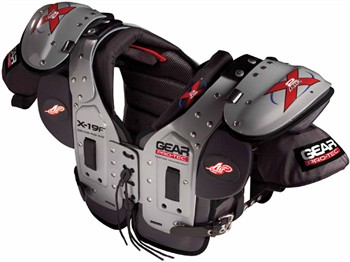 Gear Pro-Tec X2 Air X-19F Adult Football Shoulder Pads - QB / DB / RB / WR