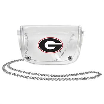 Georgia Bulldogs Clear Waistpack
