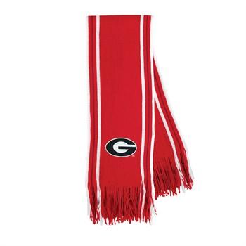 Georgia Bulldogs Stripe Fringe Scarf