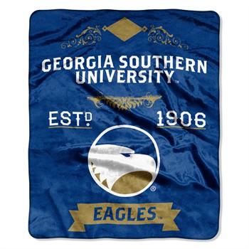 Georgia Southern Eagles Label Raschel Throw Blanket
