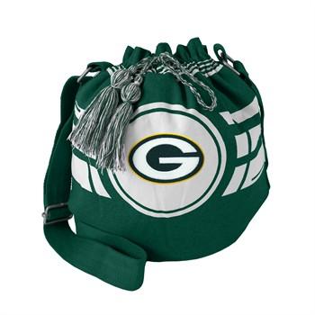 Green Bay Packers Green Ripple Drawstring Bucket Bag