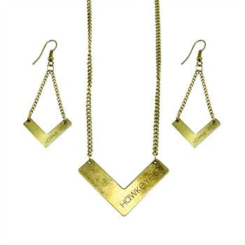 Iowa Hawkeyes Chevron Jewelry Set