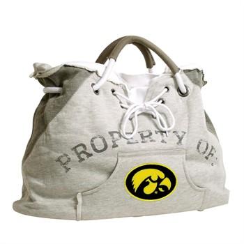 Iowa Hawkeyes Gray Hoodie Tote Bag