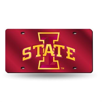 Iowa State Cyclones Laser Cut License Plate