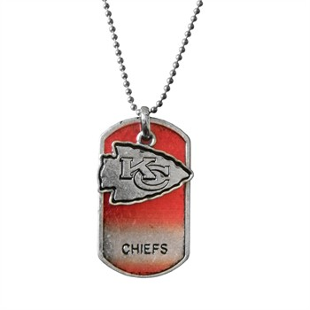 Kansas City Chiefs Dog Tag Charm Necklace