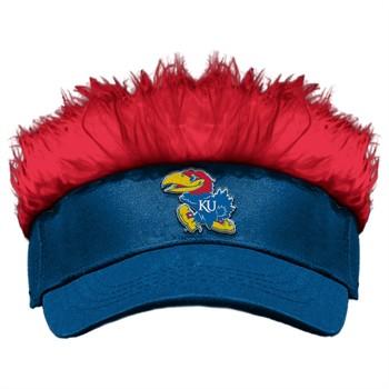 Kansas Jayhawks Flair Hair Visor