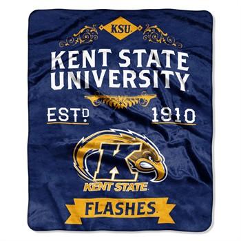 Kent State Golden Flashes Label Raschel Throw Blanket